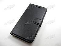 Кожаный чехол книжка ZTE Nubia Z11 mini (черный)