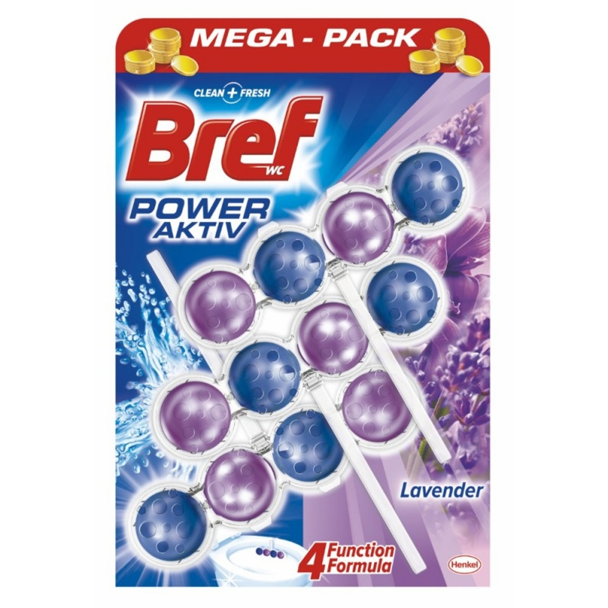 Кульки для унітазу Bref power aktiv lavender 3x50 г