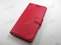 Кожаный чехол книжка ZTE Nubia Z11 mini (красный)