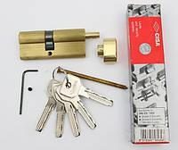 Cisa Asix 75мм 35х40 ключ/тумблер латунь (Италия)