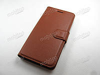 Кожаный чехол книжка ZTE Nubia Z11 mini (коричневый)