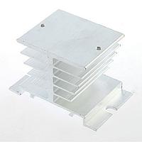 Алюминиевый радиатор для твердотельных реле SSR (серебристый) EE03