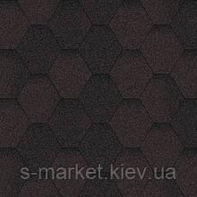 Битумная черепица Акваизол коллекция «Мозаика» Коричневая ЭКО