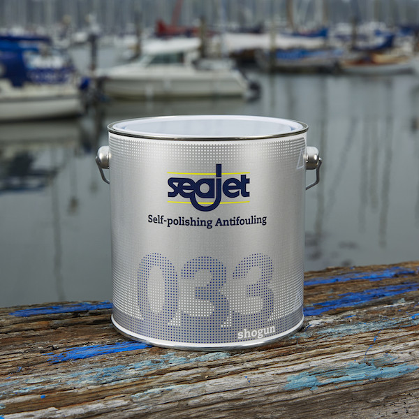Антиобростайка для лодки и катера с самополировкой голубая 0,75 литра seajet 033 shogun