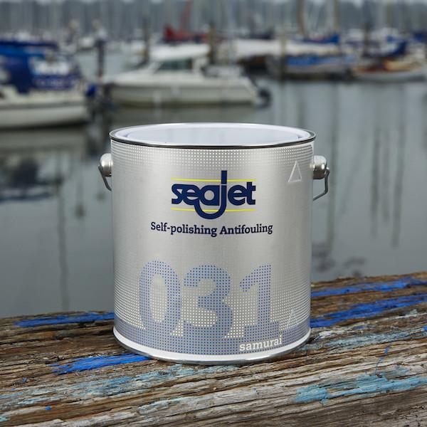 Антиобростайка для лодки и катера синяя 2,5 литра с самополировкой seajet 031 samurai
