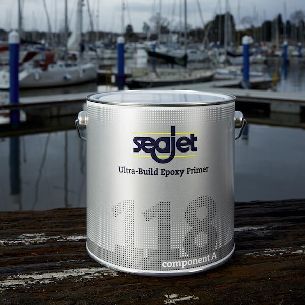 Грунтовка для лодки и катера чистовая эпоксидная защита от осмоса вздутия серебро 2,21 литра seajet 118