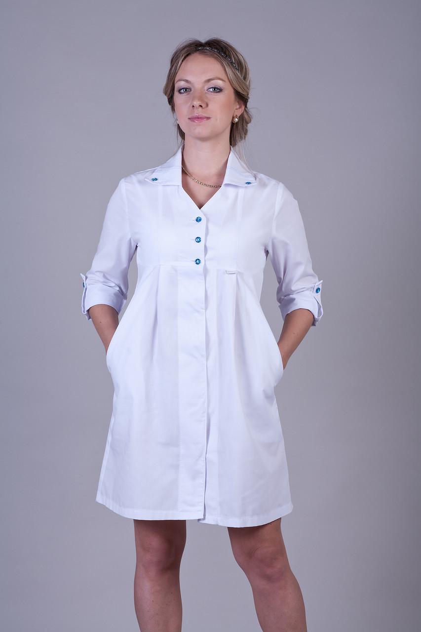 Женский  клешный медицинский халат