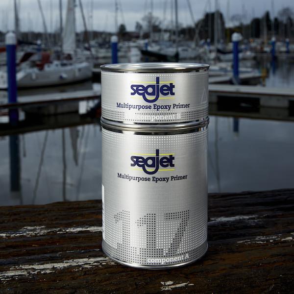 Грунтовка для лодки и катера универсальная эпоксидная серебряно-серая 1 литра seajet 117