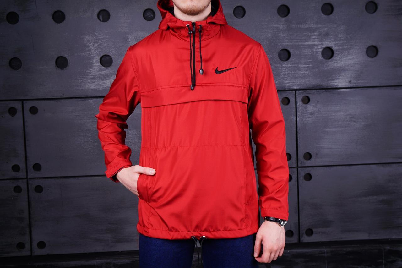 Анорак Nike (Найк), красный, фото 1
