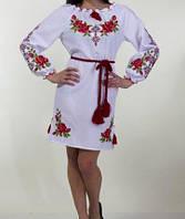 Платье с цветочным орнаментом на габардине