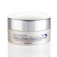 Увлажняющий и подтягивающий кожу крем от морщин с морским коллагеном Deoproce Marine Collagen Mineral Cream