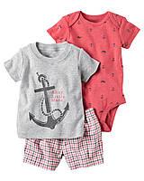 Комплект Carters с морским принтом для мальчика