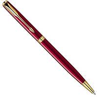 Шариковая ручка Parker Sonnet Slim Laque Ruby Red GT BP красная с позолотой 85 931R
