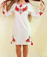 Платье лен с красивым орнаментом, фото 1