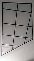 Декоративная стеклянно-алюминиевая конструкция 1,5х3 м