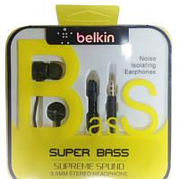 Наушники Stereo Hands Free Belkin Metal Black