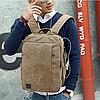 Мужской рюкзак из холста, фото 4