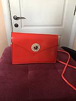 Женская маленькая сумочка красная нарядная