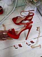 ХИТ СЕЗОНА!! Красные крутые женские босоножки женские