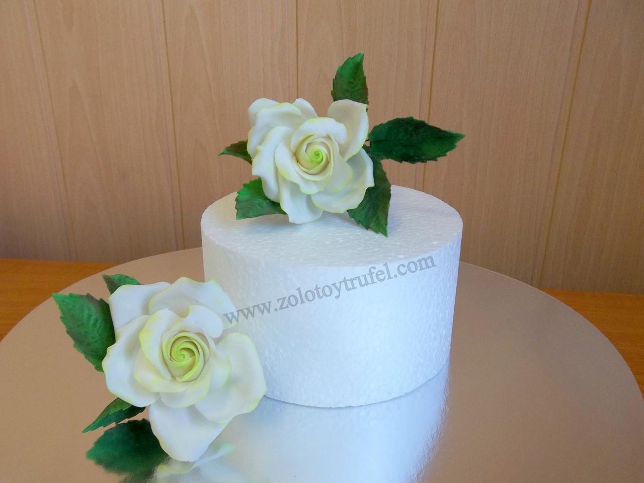 Муляж для торта из пенопласта - круг Ф 26 см h 10 см