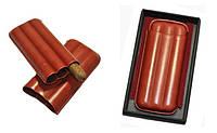 Футляр для 3-х сигар Angelo, Арт. 81300, цвет коричневый