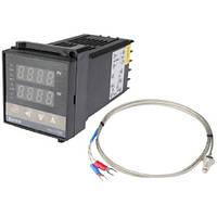 Цифровой ПИД-регулятор температуры REX-C100FK02-M*AN (релейный выход) + термопара