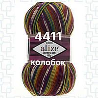 Турецкая пряжа для вязания  нитки ALIZE SUPERWASH 100  Ализе супервош   4411