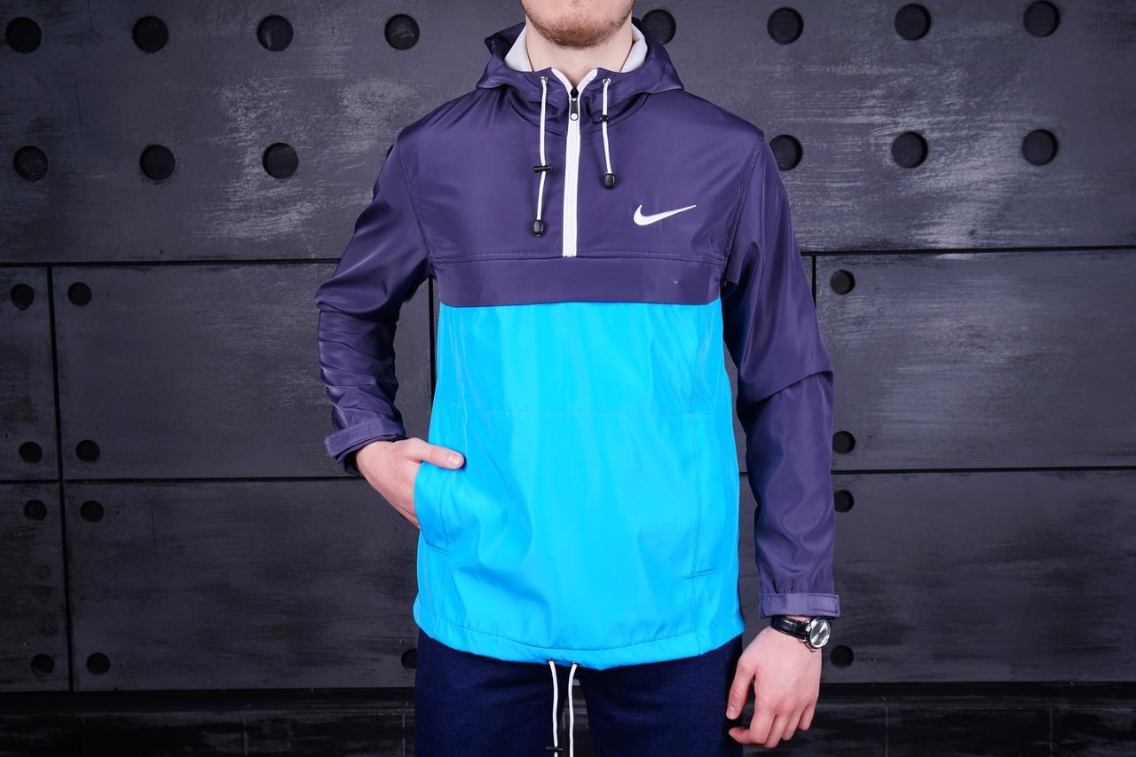 Анорак Nike (Найк), серо-бирюзовый