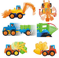 Игрушка Huile Toys Грузовичок (комплект из 4 шт) 326, Huile Toys