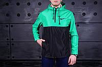 Анорак Nike (Найк), бирюзово-черный, фото 1