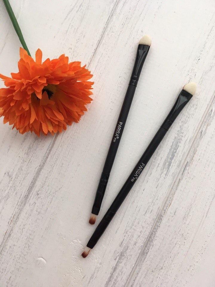 PARISA Кисть для макияжа № P30 (для макияжа глаз, нанесения и растушевки теней, 2х-сторонняя) Кисть для теней