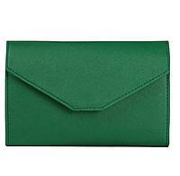 Женский зеленый портмоне-чехол для телефона(клатч), фото 1