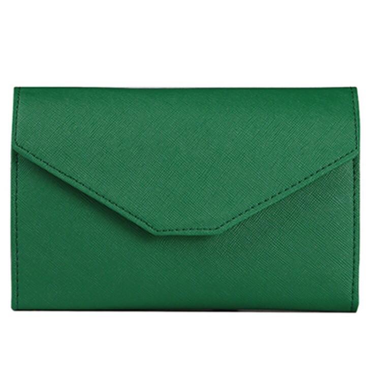 Женский зеленый портмоне-чехол для телефона(клатч)