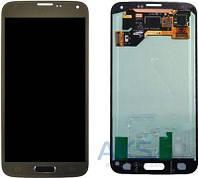 Дисплей (экран) для телефона Samsung Galaxy S5 Duos G900F, Galaxy S5 G900H + Touchscreen Original Gold