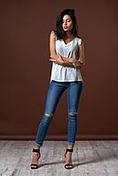 Женская летняя блуза. Цвет молочный. Код модели Б-13-33-15.