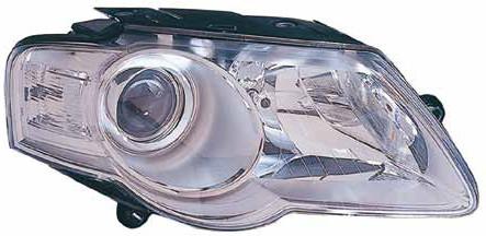 Фара VW Passat B6 05-10 правая (Depo) хром электрич., тип Valeo 3C0941006M