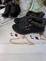 Зимние ботинки кроссовки мужские с мехом Columbia  мужские
