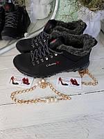 Кроссовки   кожаные зимние с мехом Columbia  мужские