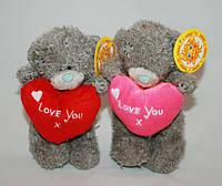 Мишка Тедди с сердцем 19 см