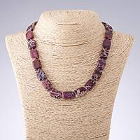 Бусы Варисцит фиолетовый прямоугольник  d-13*18мм L-45см