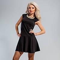 Коротенькое платье с декором на горловине 38,40,42 размеры