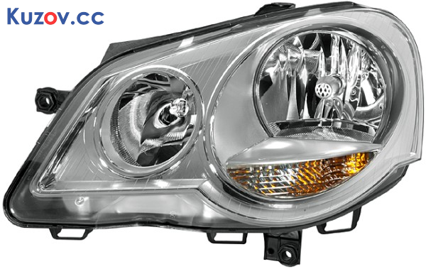 Фара VW Polo 6 05-09 правая (Depo) электрич., хром. отраж. 6Q1941008AJ