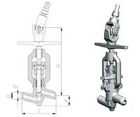 Клапан запорный сальниковый 1053-50-0 Ду50 Ру373