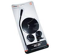 Микрофон REAL-EL MC-20 Black, на подставке, кабель 1.8 м