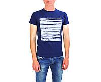 Темно-синяя мужская футболка с рисунком THIERRY NERRY на лето
