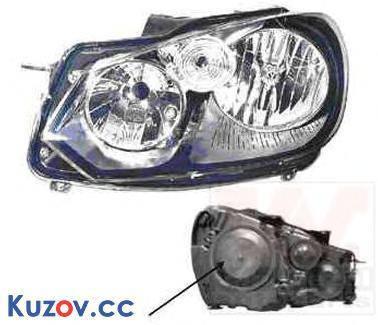 Фара VW Golf VI 09-12 левая (Depo) электрич. 5K1941005L, фото 2