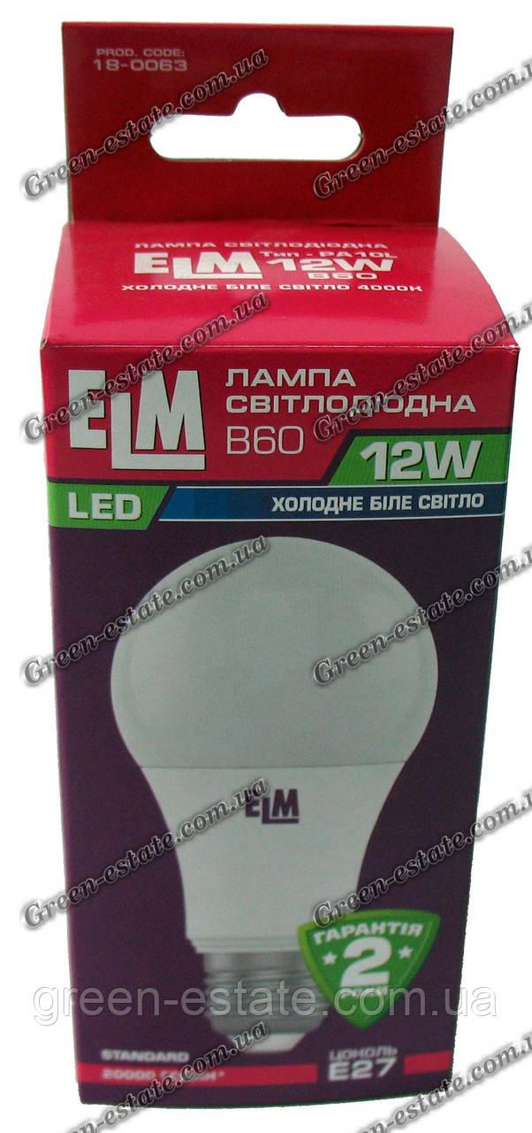 Светодиодная лампа ELM 12вт