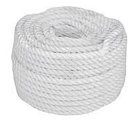 Веревка 30м 8мм белая, полиэстер, универсальная