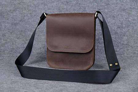 Мужская сумка через плечо |10113| Шоколад