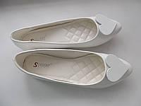 Балетки натуральная кожа лак размер 40 Польша, фото 1